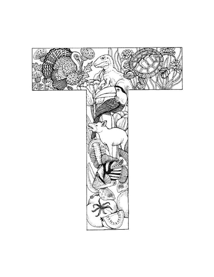 letter t alphabet coloring pages t - Letter T Coloring Sheets