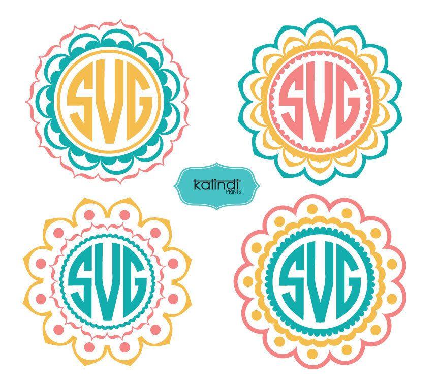 Download Mandala Monogram SVG, 3 colors Mandala svg, svg,Mandala ...