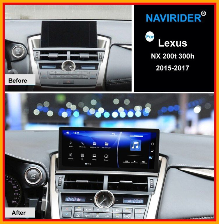 Hot 10 25 Inch Octa Core Navirider Android 7 1 Car Radio Wifi Gps Navigation Bt Head Unit Touch Screen For Lexus Nx 200t In 2020 Car Radio Lexus Nx 200t Gps Navigation