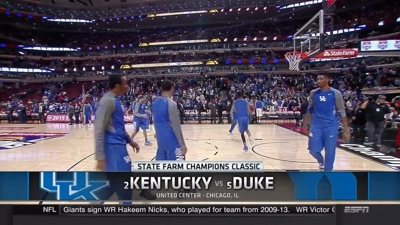 Uk Basketball: Kentucky Vs Duke Full Game NCAA Basketball 2015 / 11.17