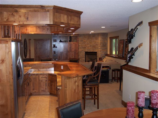 Man Cave Office Designs : Basement idea photo wooden bar my new man cave home