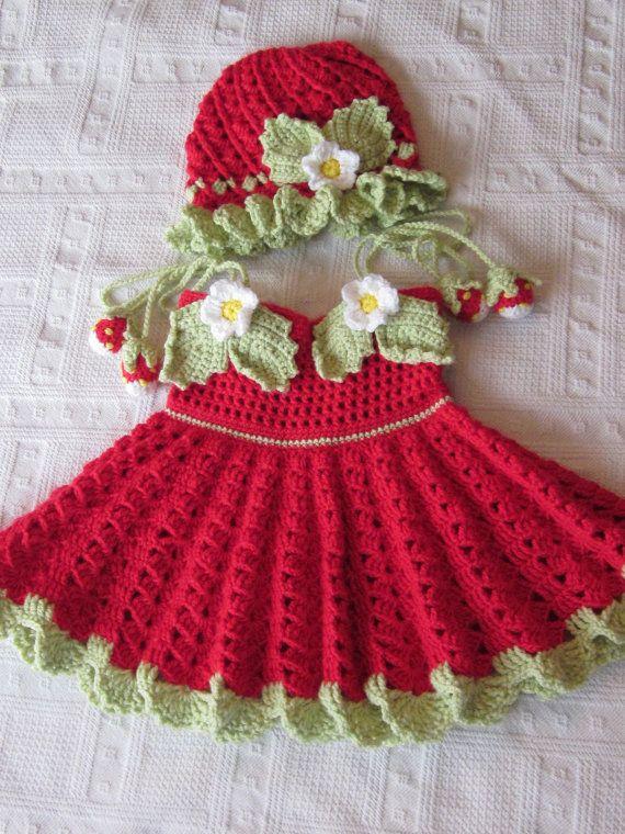 handgefertigte baby m dchen crochet kleid und von magicalstrings baby und kinderkleidung. Black Bedroom Furniture Sets. Home Design Ideas