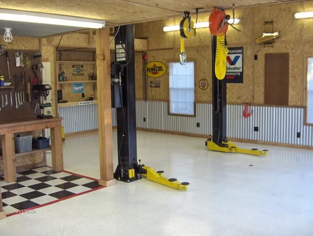 Man Cave Garage Journal : Anyone using galvanized roofing for wainscoting? the garage