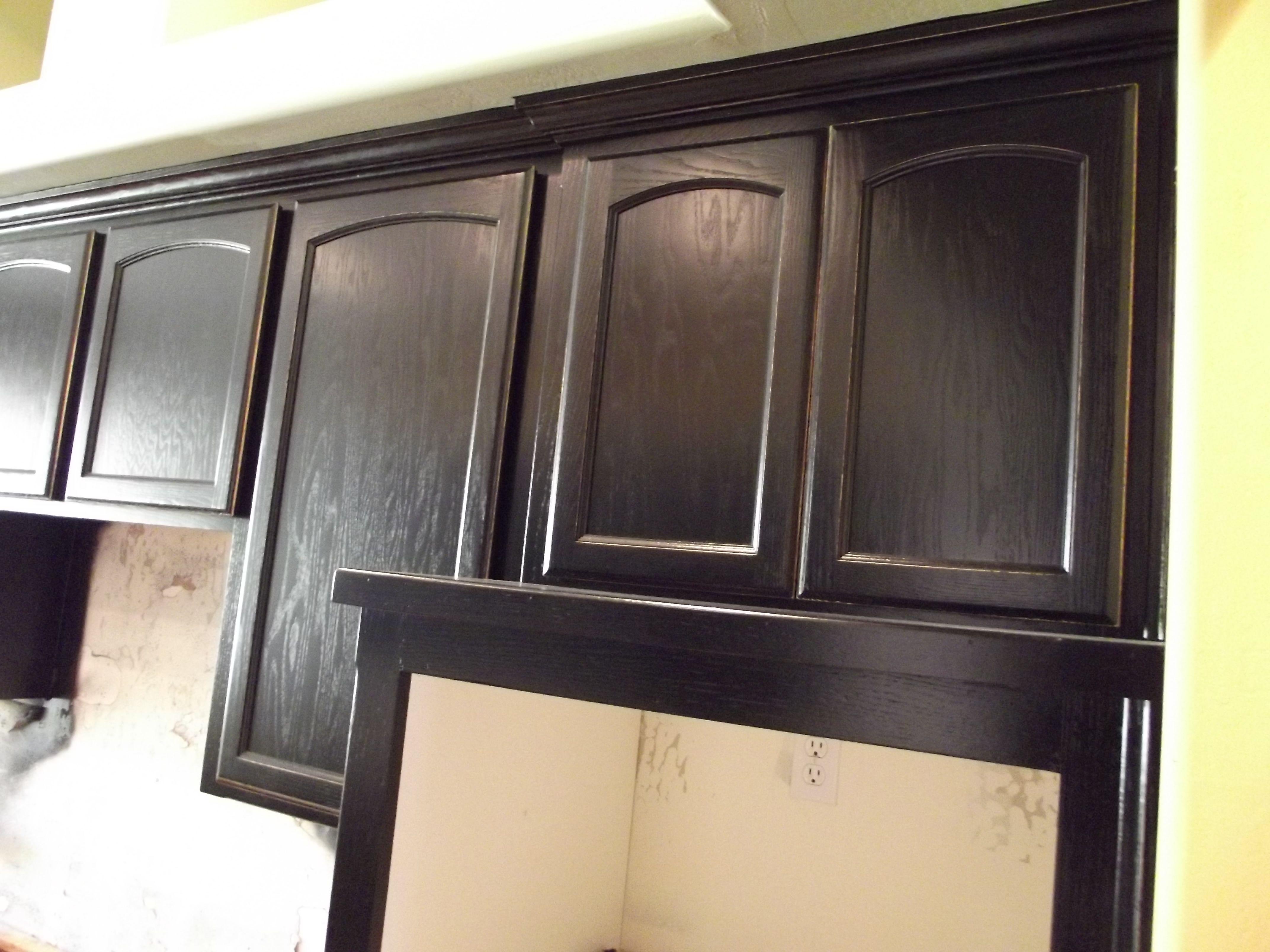 black distressed on kitchen cabinets | Kitchen cabinets ...