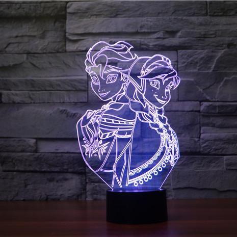 Frozen Lampeez 3d Led Night Light Led Night Light 3d Night Light