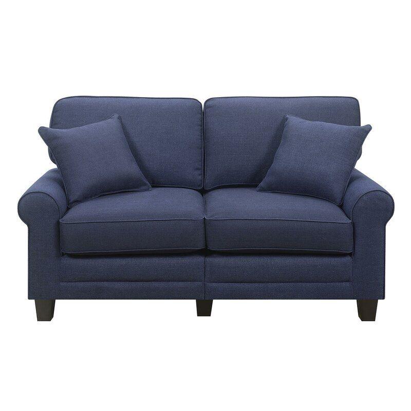 Beachcrest Home Buxton Loveseat Reviews Wayfair Love Seat Furniture Styles Farmhouse Style Chairs