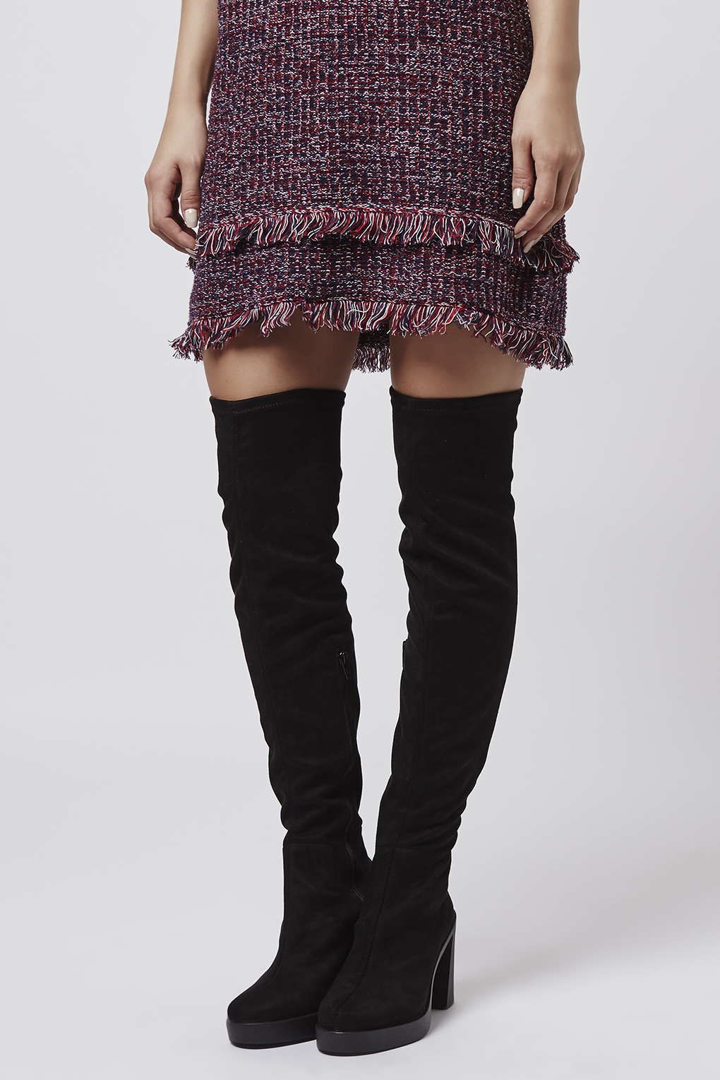BARI Stretch Over The Knee Boots | Topshop Bari and The o&39jays