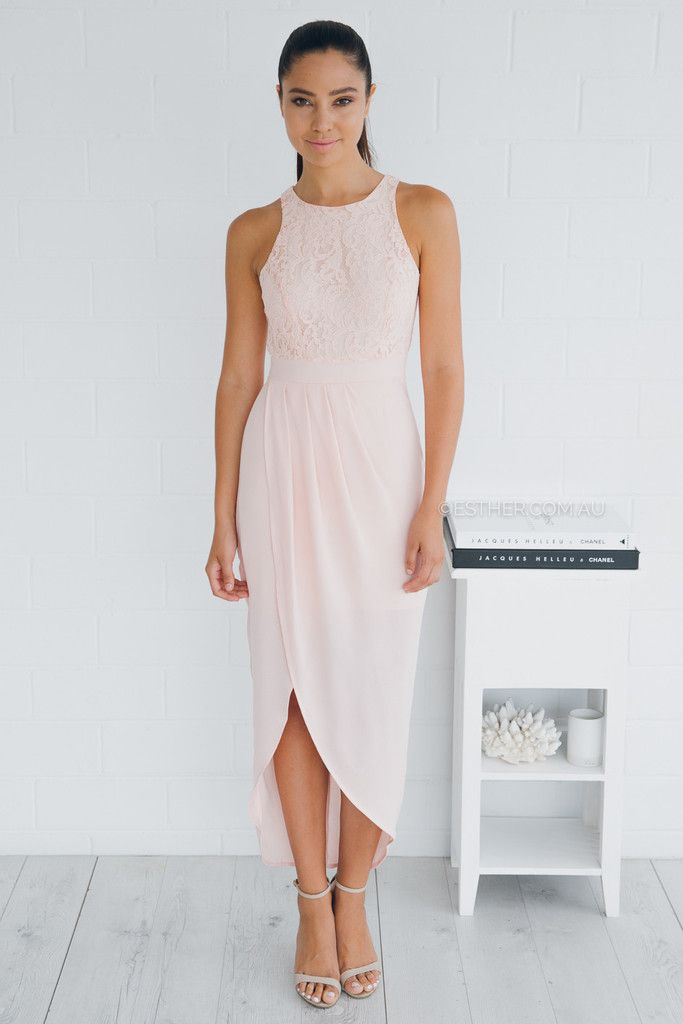 fresh soul cascade dress - blush | Esther clothing Australia and ...