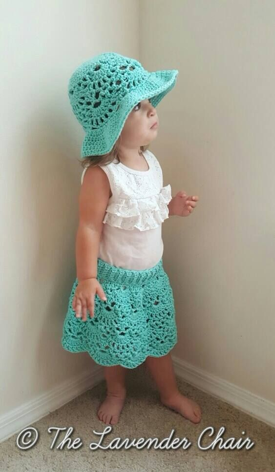 919aa68cee4 This Lacy Shells Skirt is super cute! Get the FREE crochet pattern for both  the hat and the skirt right here on The Lavender Chair
