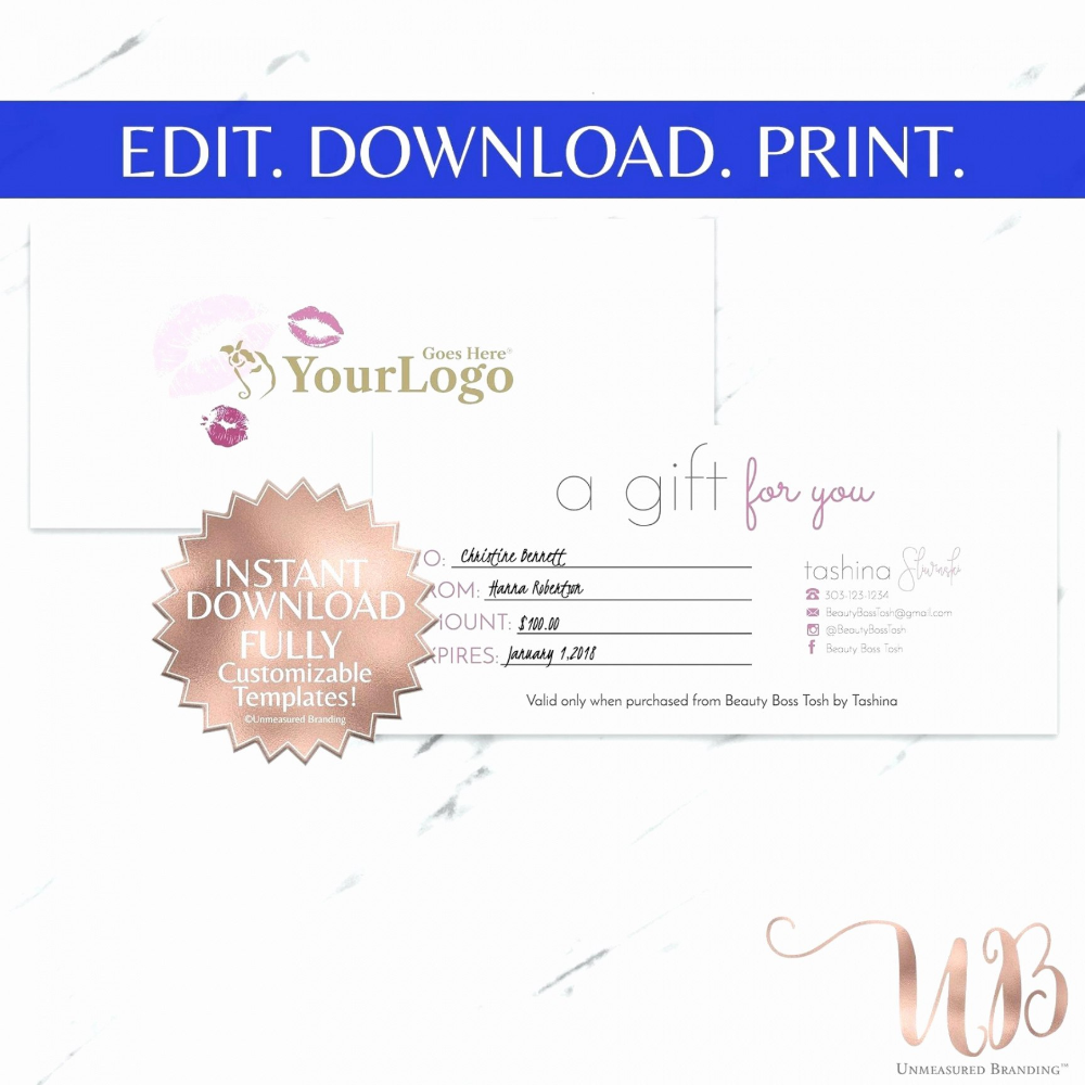 Makeup Gift Certificate Template Emetonlineblog throughout This