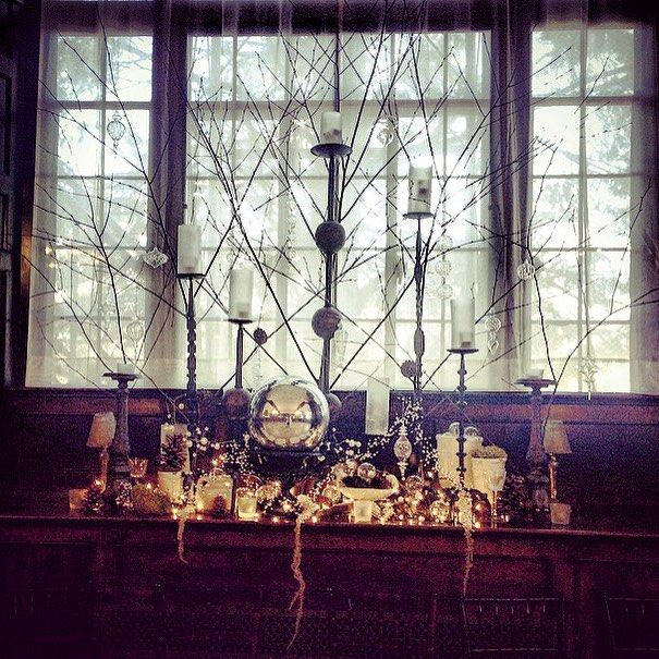 Holiday decor at Homewood, Asheville Wedding Venue #ashevillewedding #homewoodwedding #ashevilleweddingvenue