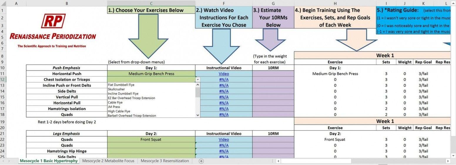 Download Male Physique Training Template Renaissance Periodization