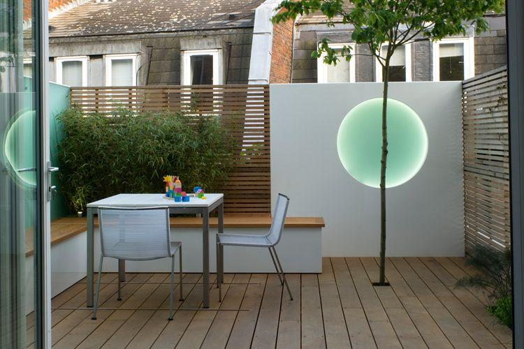 Garden Design Roof Terrace beautiful roof garden terrace | horizontal fencing for privacy