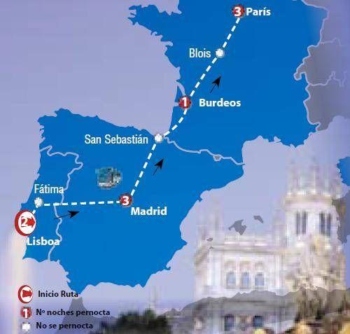 Oferta de viaje a Abu Dhabi. Entra, informate y reserva el viaje Circuito de 10 dias por Lisboa, Madrid y Par�s