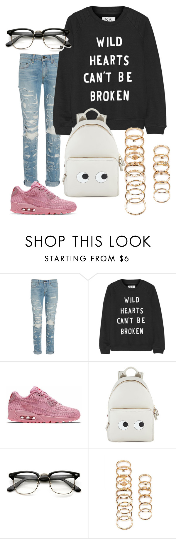 """""""Untitled #22"""" by madison2486 ❤ liked on Polyvore featuring rag & bone, Zoe Karssen, NIKE, Anya Hindmarch and Forever 21"""