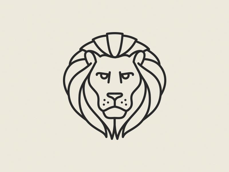Lion Pictogram By Raul Taciu Design Popular Dribbble Shots Populargeometrictattoos Geometric Lion Simple Lion Tattoo Pictogram Design