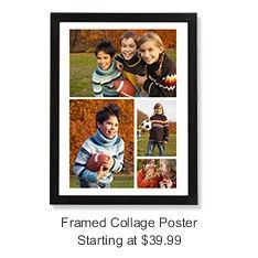 snapfish put your photos on a framed collage poster grad invites