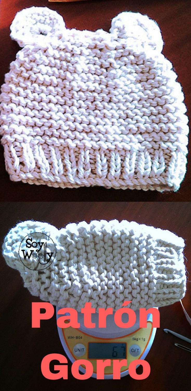 ... puedes tejer un gorro de bebé recién nacido con  dos agujas 20601cb5277