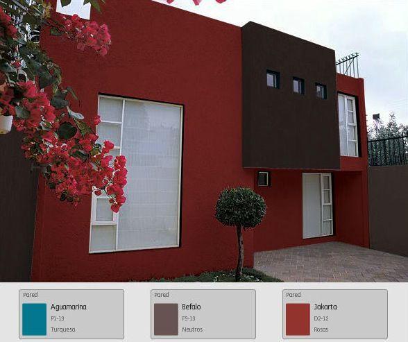 Una Fachada Vibrante Y Diferente Hogar Tips Consejos Mexico Rojo Exteriores De Casas Colores Para Casas Exteriores Pinturas De Casas Exterior