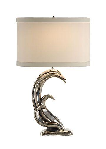 Silver Waves Table Lamp from Ocean Offerings | deep sea bathroom ...