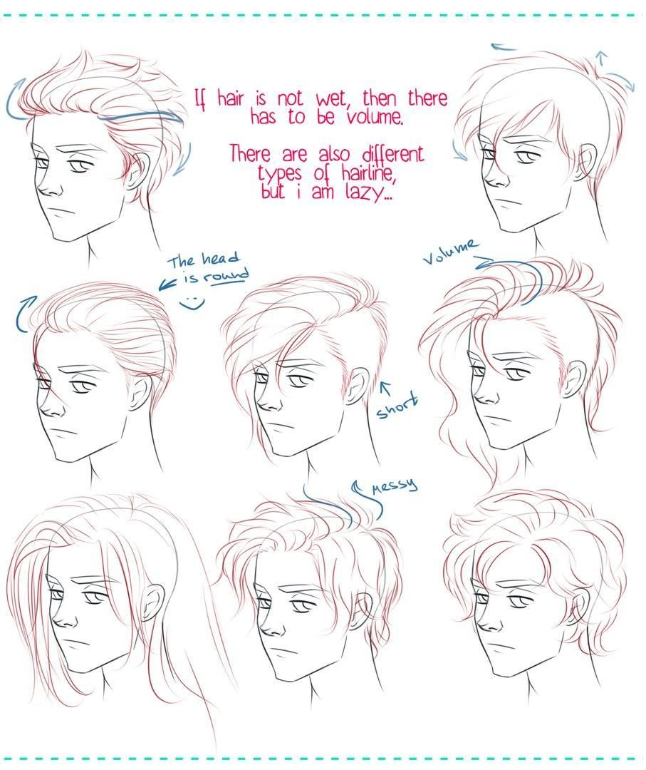Drawing Hairstyles For Your Characters Oc How To Draw