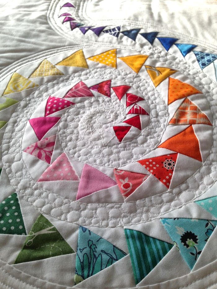 Spiral Geese Mini Quilt | Spiral, Mini quilts and Mini quilt patterns : flying geese quilt tutorial - Adamdwight.com