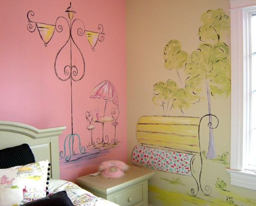 Paris Themed Girls Room Paris Scene French Theme