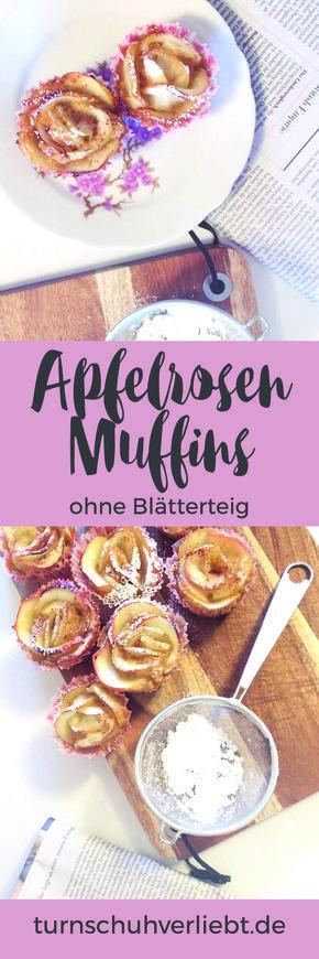 Apfel-Rosen-Muffins mit Kokosnote // Rezept