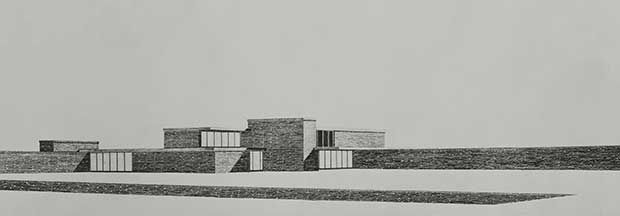 Brick country house project 1924