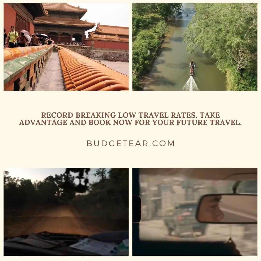 Record breaking low travel rates!! Take advantage #cheaptravel #budgetear.com #budgetear #besttravel
