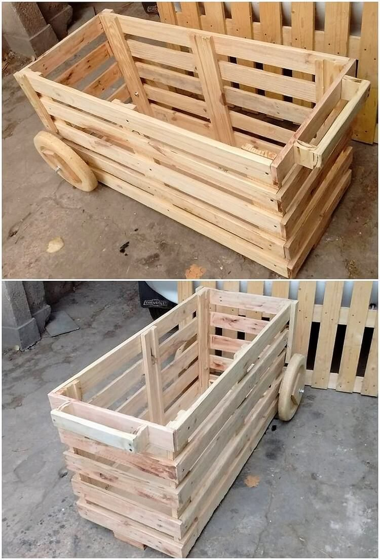 This Is The Giant In Structure Wood Pallet Rolling Storage Box That Has Been Designed