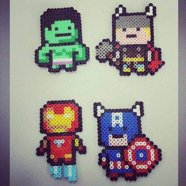Avengers perler beads by fernando_g3