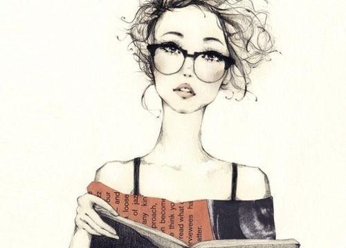 Nerd Girl Reading