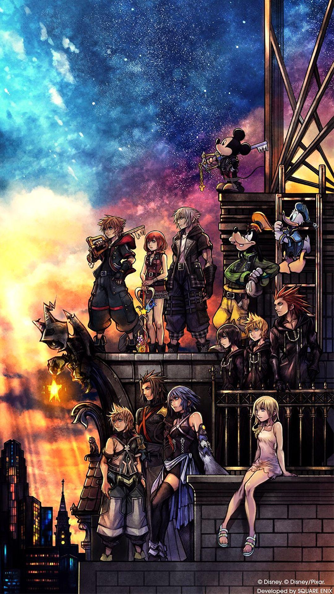 Kh3 Box Art Kingdom Hearts 3 Kingdom Hearts Wallpaper Iphone