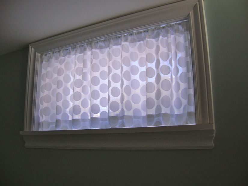 basement window curtain - Basement Window Curtains