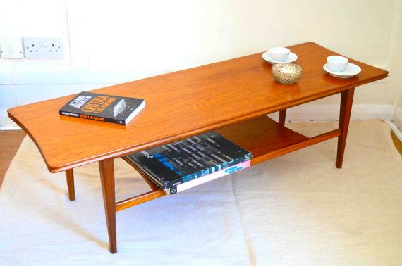 Vintage Richard Hornby Danish Style Two Tier Teak By Modernico Teak Coffee Table Coffee Table Used Dining Table