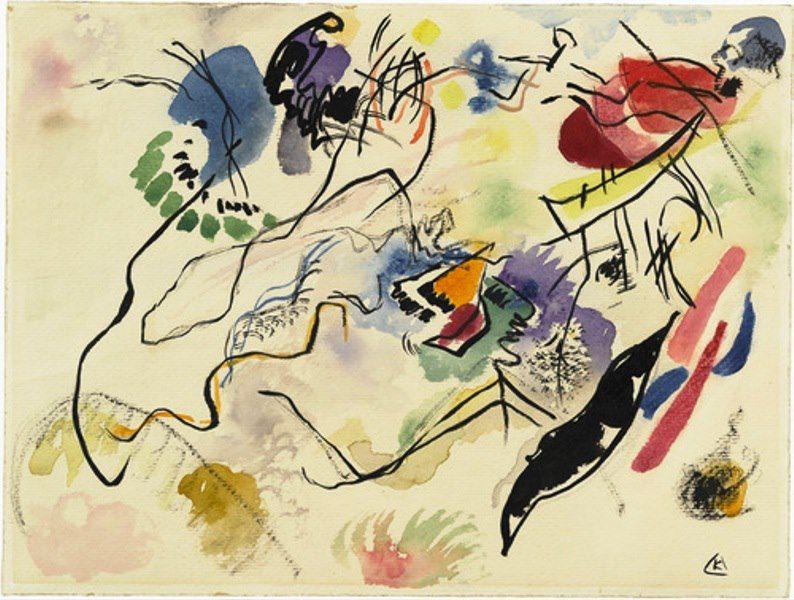 Vasilij Kandinskij - Watercolor No. 14, 1913