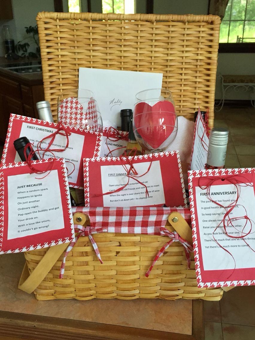 Bridal shower basket of firsts bridal shower baskets