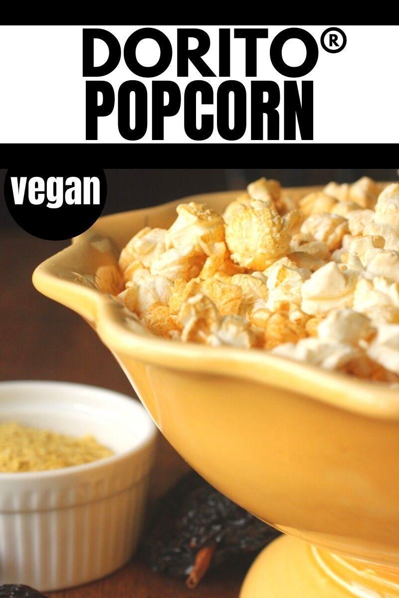Dairyfree dorito popcornan easy healthy snack