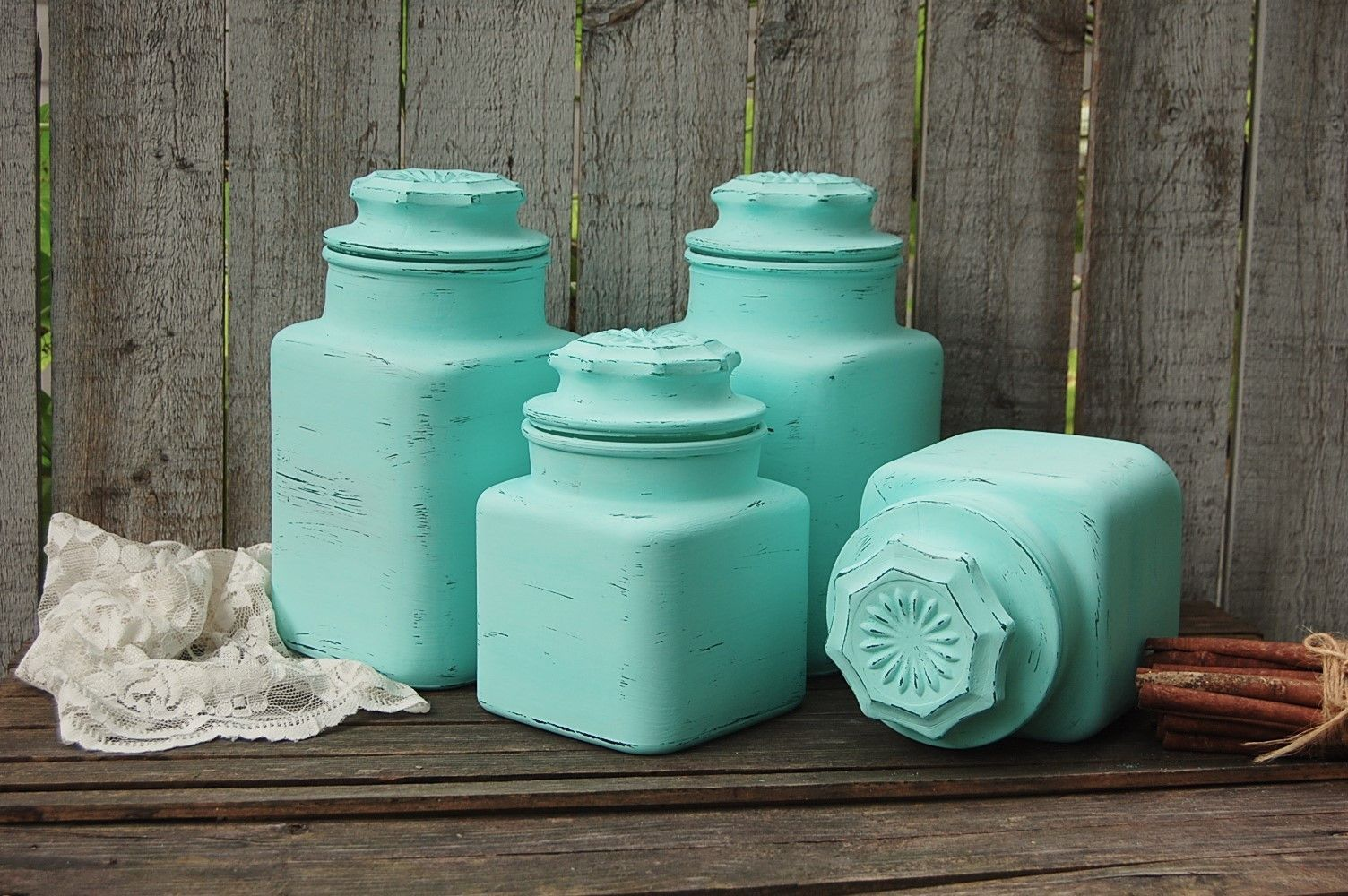 Mint Green Kitchen Canister Set