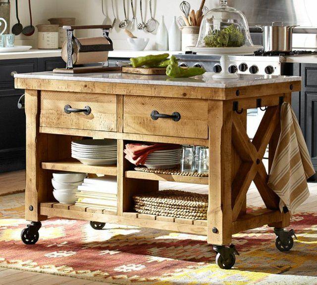 Fabriquer un îlot de cuisine- 35 idées de design créatives meubles