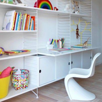 Bureau étagères blanc Blanc String  – Paul bedroom