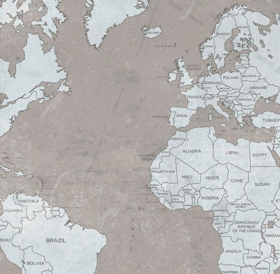 World map canvas print vintage taupe light blue by natalyborichart world map canvas print vintage taupe light blue by natalyborichart gumiabroncs Image collections