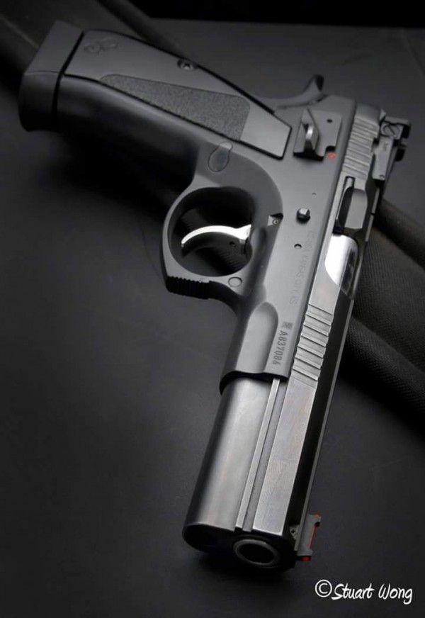 Cz 75 B 85 B Black Grip With Silver Custom