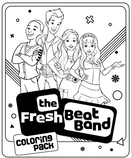 fresh beat band coloring pages # 1
