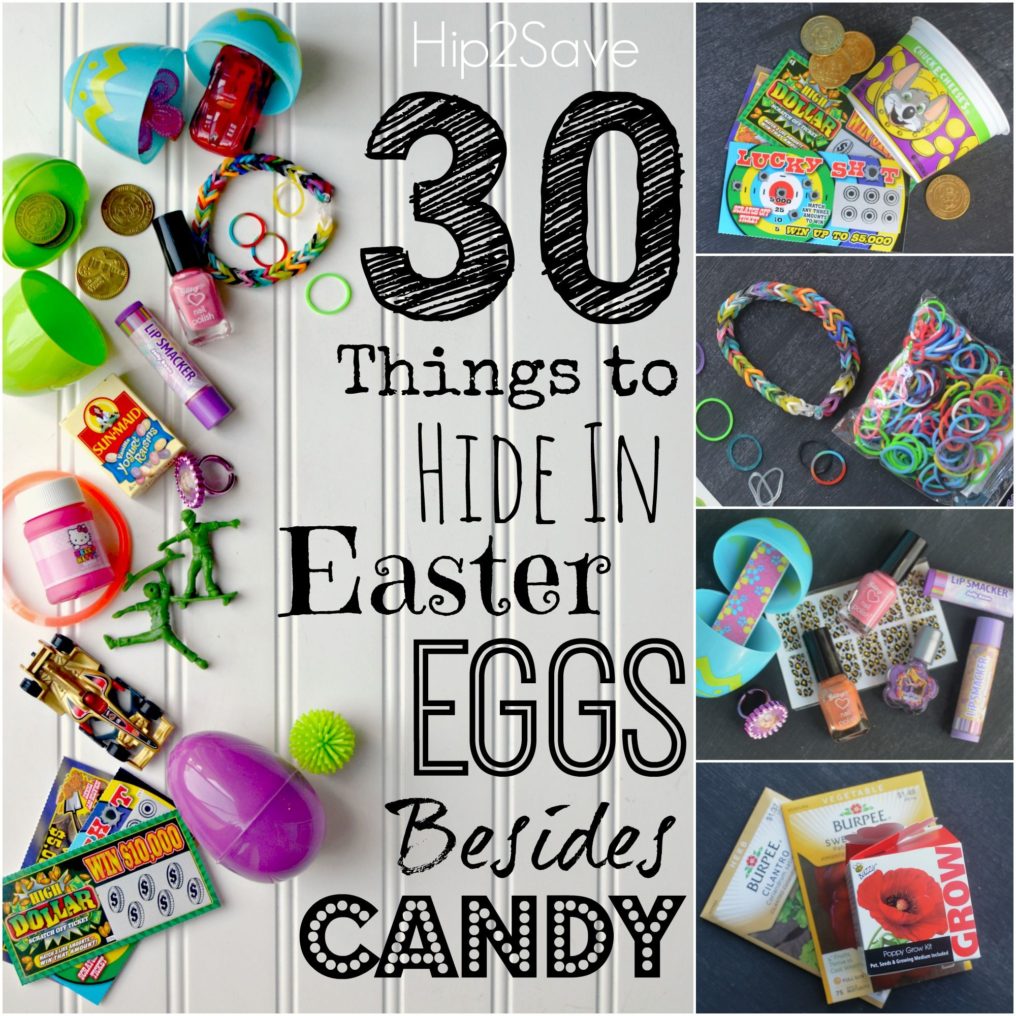 30 things to hide in easter eggs besides candy easter egg and 30th 30 things to hide in easter eggs besides candy by hip2save its not your grandmas coupon site negle Choice Image