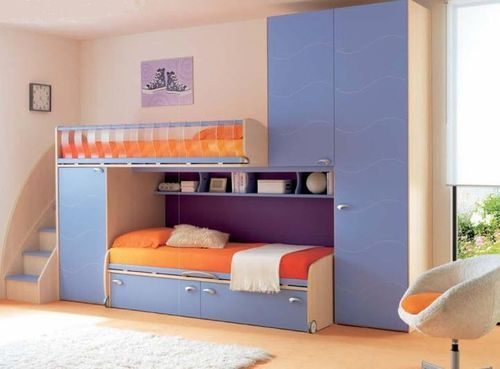 Kids Bunk Bed With Storage Cabinets Boys Cs20 Moretticompact Lit Superpose Enfant Lits Superposes Avec Rangement