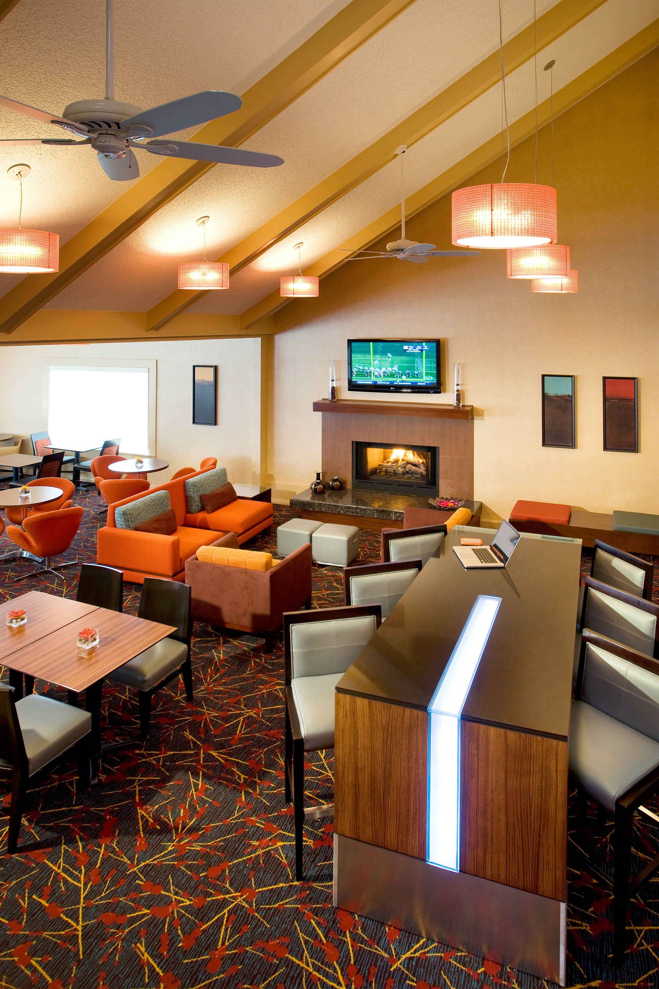 Residence Inn Costa Mesa Newport Beach Breakfast Seating Area ... on