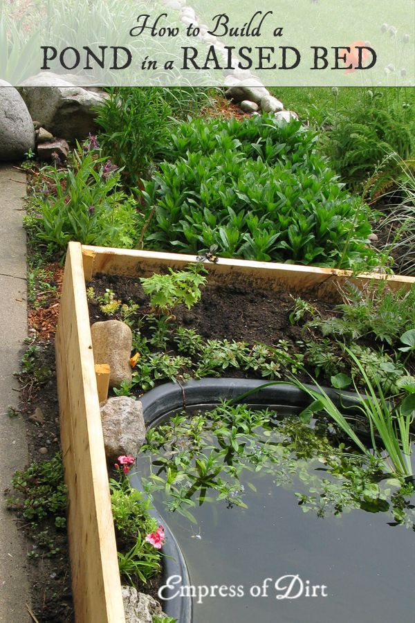 Can T Dig A Pond Put It In A Garden Bed Ponds For Small Gardens Building A Raised Garden Water Features In The Garden