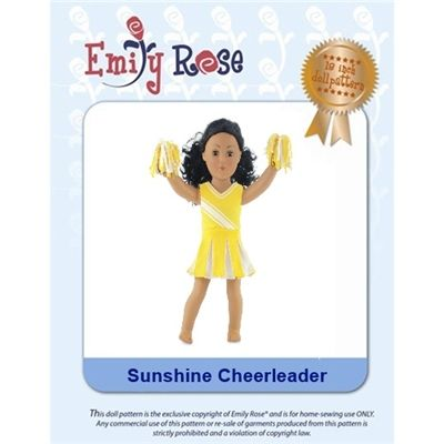 18-Inch Doll Clothes Pattern - Sunshine Cheerleader - Downloaded to your computer #18inchcheerleaderclothes